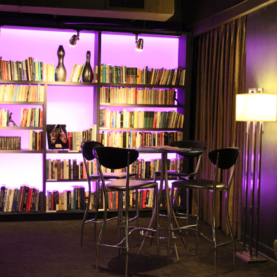 Adjacent to the lounge is our very elegant library. Photo by Casey E. Lewis.