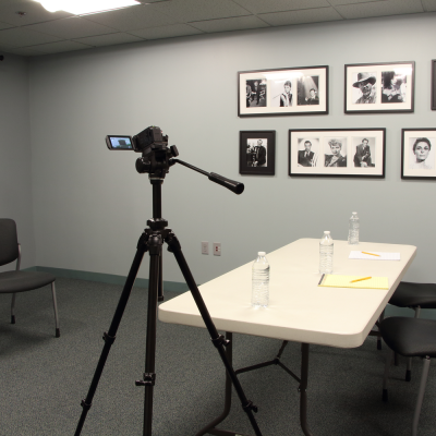 The Actors Center classroom can accommodate casting sessions. Camera and tripod must be supplied by renter. Photo by Casey E. Lewis.