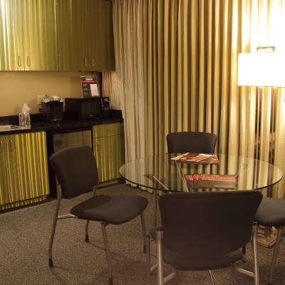 The Administrative Reception Area can be used as a greenroom or staging area for your caterer. Photo by Casey E. Lewis.