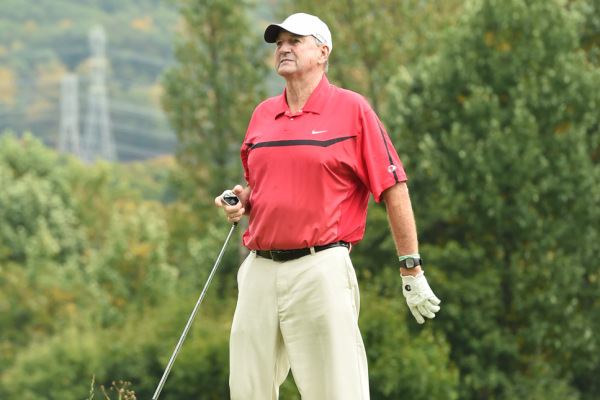Coach Jim Calhoun at the Screen Actors Guild Foundation 2nd Annual New York Golf Classic benefiting the Catastrophic Health Fund. Photo by Theo Wargo / Getty Images.