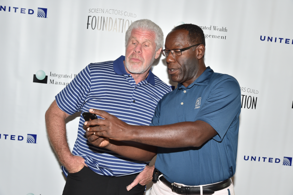Host Ron Perlman & James McDaniel at the Screen Actors Guild Foundation 2nd Annual New York Golf Classic benefiting the Catastrophic Health Fund. Photo by Theo Wargo / Getty Images.
