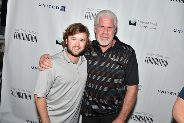 Haley Joel Osment & Host Ron Perlman at the Screen Actors Guild Foundation 2nd Annual New York Golf Classic benefiting the Catastrophic Health Fund. Photo by Theo Wargo / Getty Images.