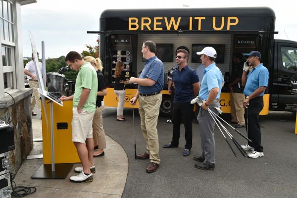 Team Sponsor Keurig provides coffee brewers for every player