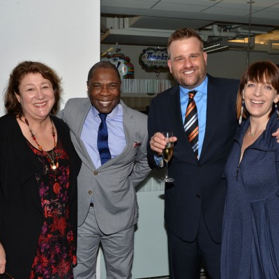 Actors Margo Martindale, Michael Potts, Stephen Wallem and guest attend the opening of the SAG Foundation's New York Actors Center, April 30, 2014. Photo by Andrew Walker/Getty Images