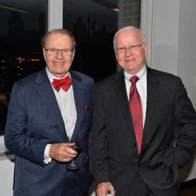 Charles Osgood and Rich Lamb attend the opening of the SAG Foundation's New York Actors Center, April 30, 2014. Photo by Andrew Walker/Getty Images