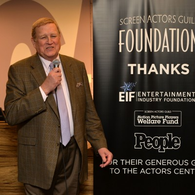 SAG Foundation Board Member & SAG-AFTRA National President Ken Howard speaks at the Opening of SAG Foundation Actors Center - New York. Photo by Andrew Walker / Getty Images.