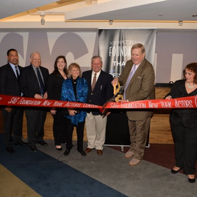 Ken Howard cuts ceremonial ribbon at the Opening Of SAG Foundation Actors Center In New York