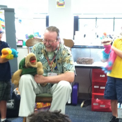 Fun with puppets and BookPAL Bill Cordell!
