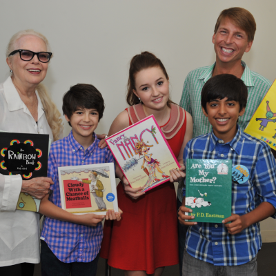 Actors Barbara Bain, Joshua Rush, Kaitlyn Dever, Karan Brar and Jack McBrayer celebrate the Screen Actors Guild Foundation 20 Years Of BookPALS at West Hollywood City Council Chamber on May 11, 2013 in West Hollywood, California. Photo by Angela Weiss/Getty Images.